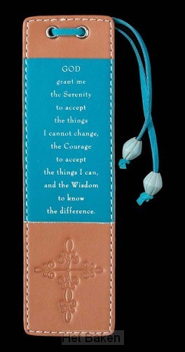 FAUX LEATHER BOOKMARK SERENITY PRAYER