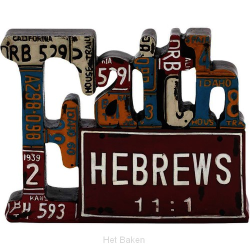FAITH - RESIN FIGURINE - LICENSE PLATE -