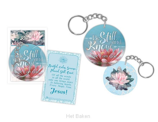 Keychain be still and know