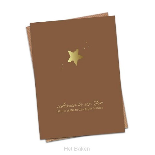 Iedereen is een ster schitterend op zijn