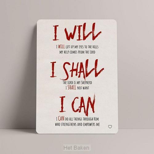 I Will, I Shal, I Can