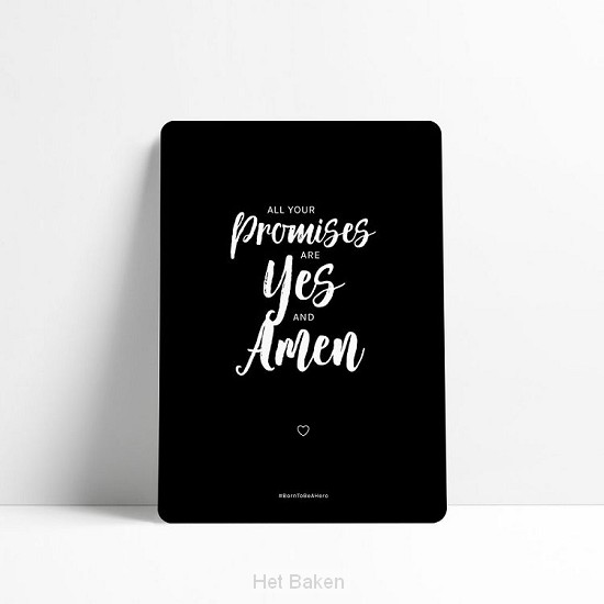 All your promises are yes and amen