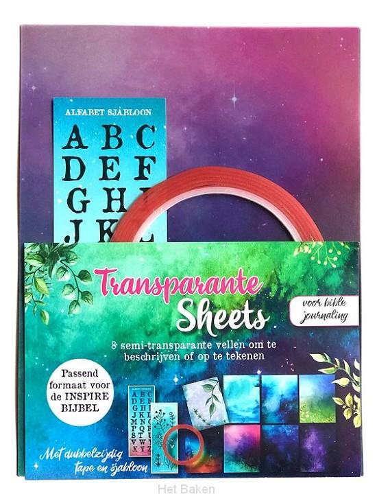 Transparante sheets v d inspire bijbel
