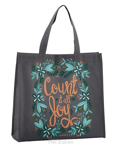 Tote bag count it all joy