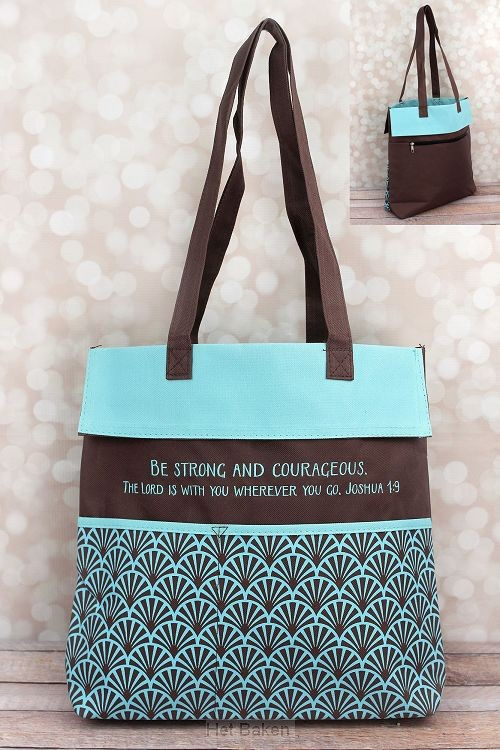 Inspirational tote bag be strong