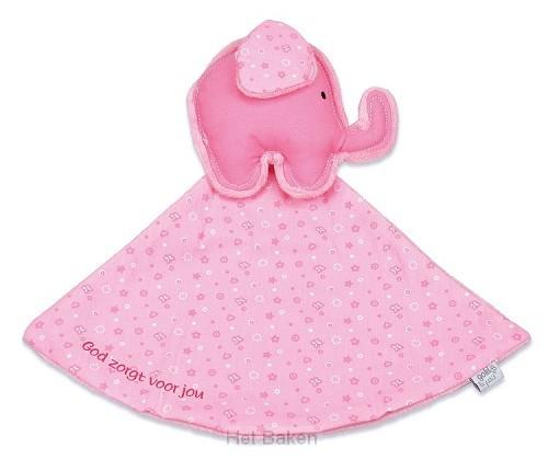 Tutdoek rose olifant God zorgt
