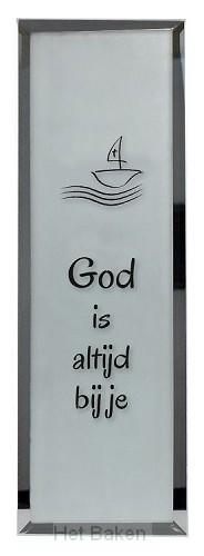 Tekstspiegel 6x18cm God is altijd
