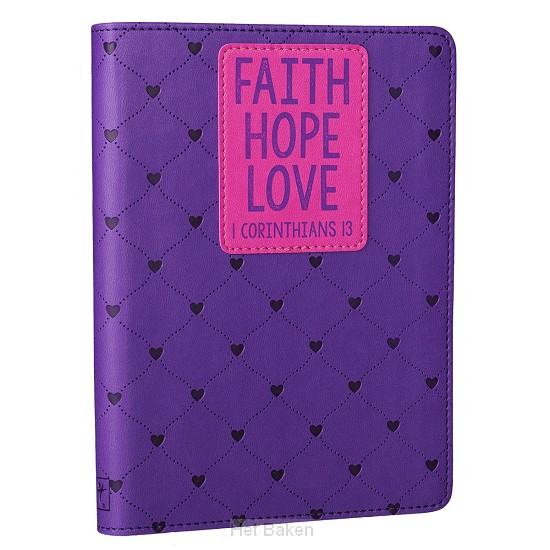 Faith Hope Love - LuxLeather Journal 12,