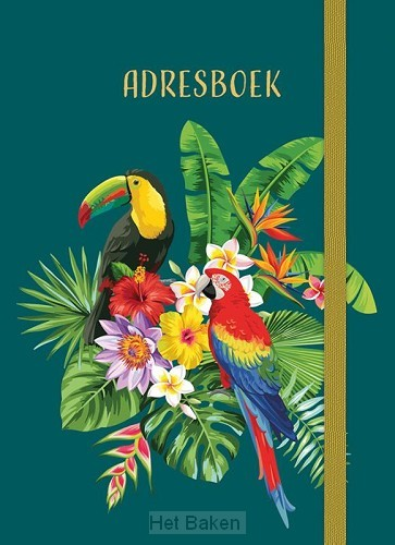 Adresboek (klein) - Tropical Birds