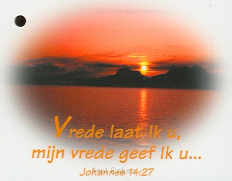 KADOKAARTJE JOHANNES 14:27