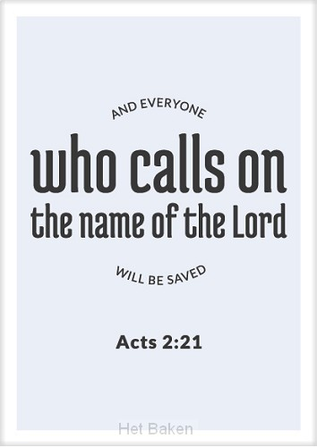 Kaart who calls on the Lord