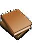 BIJBELHOES 10.5X16.4X3 LEDERFASER L BRUI