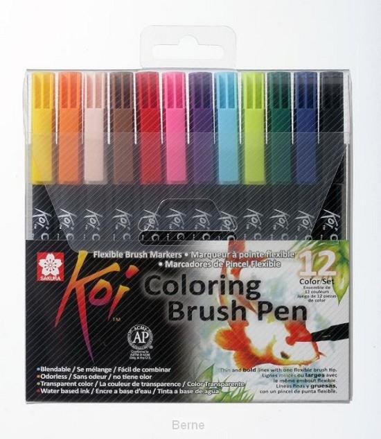 Sakura Koi Coloring Brush Pen 12 kleuren