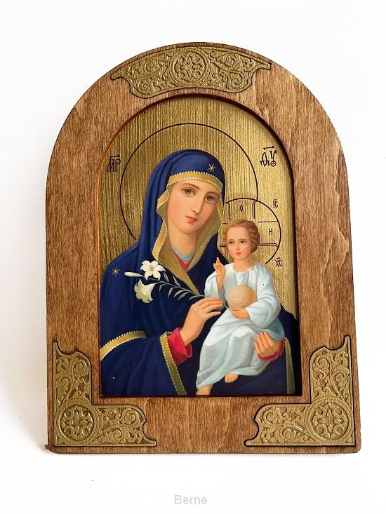 Icoon H. Maria in lijstje 20x15 cm.