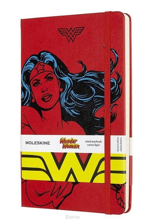 Moleskine LE Notitieboek Wonder Woman Large (13x21 cm) Gelinieerd Rood