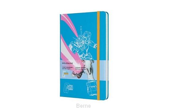 Moleskine LE Notitieboek Gundam Large (13x21 cm) Gelinieerd Blauw
