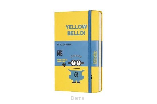 Moleskine LE Notitieboek Minions Pocket (9x14 cm) Gelinieerd Sunflower Geel