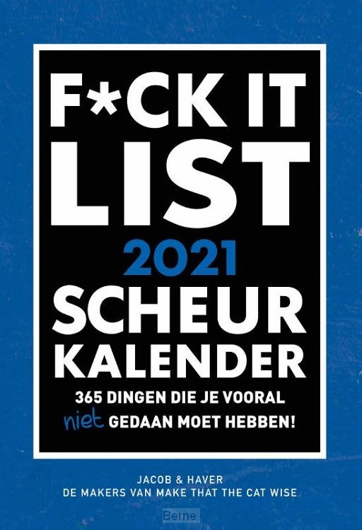 SCHEURKALENDER 2021 F*CK IT  - FSC MIX CREDIT