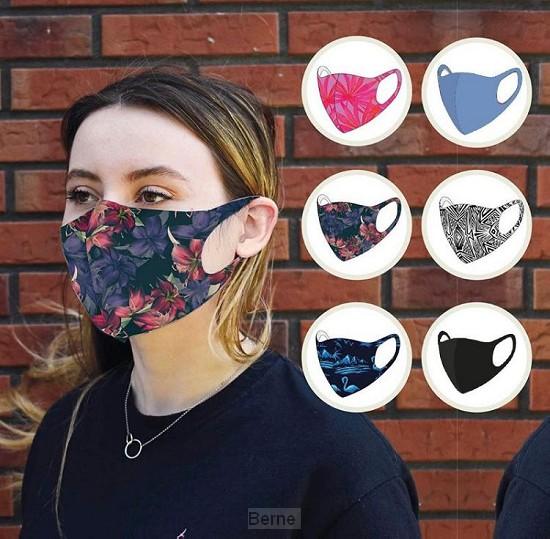 Hippe uitwasbare mondkapjes set 6 ex. assorti