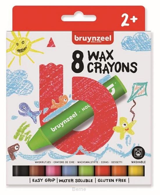 Bruynzeel Kids 8 waskrijtjes