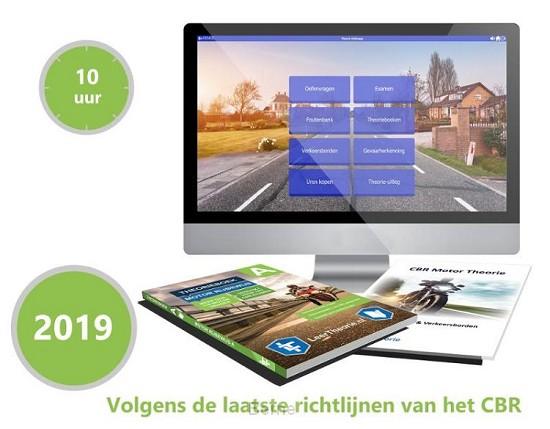 Motor Theorieboek Rijbewijs B 2019 met 10 uur online Examentraining  en Samenvatting