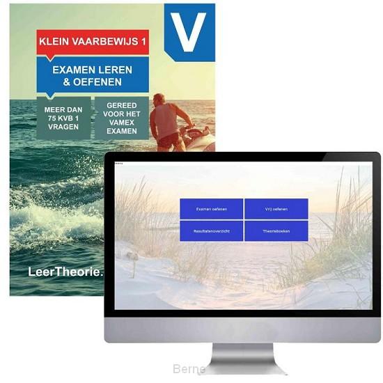 KleinVaarbewijs 1 Theorieboek met Online Examens oefenen - Cursusboek Vaarbewijs KVB 1 - Pleziervaartexamen 1