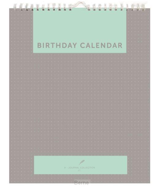 Birthday calender Auteur: A-Journal