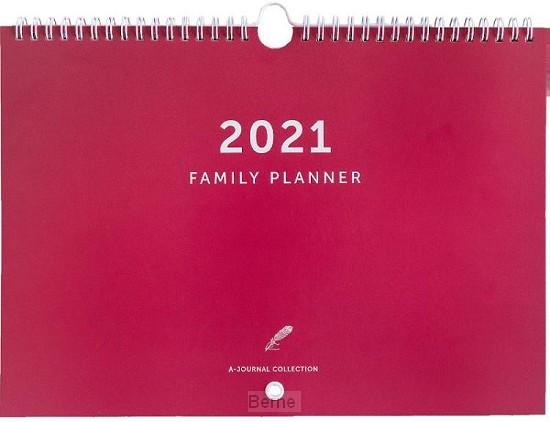 A-Journal Familieplanner 2021 - Koraal rood