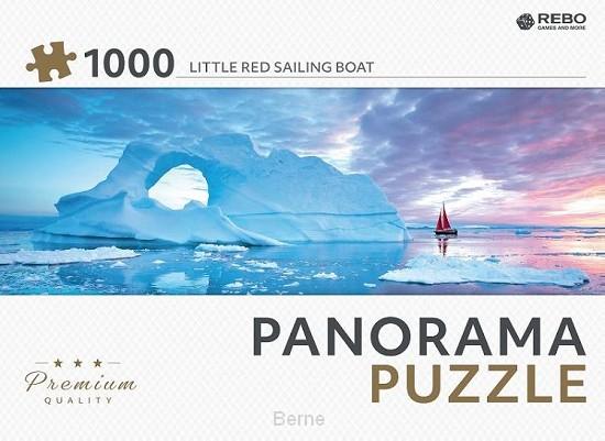 Rebo legpuzzel panorama 1000 stukjes - Little red sailing boat