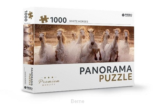 Rebo legpuzzel panorama 1000 stukjes - White horses