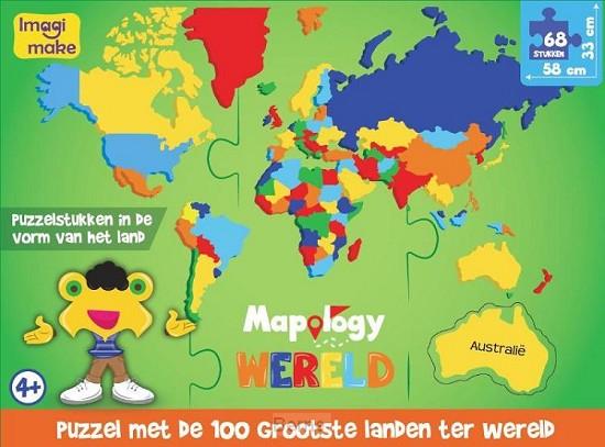 Wereld's grootste landen (NL) foam puzzle