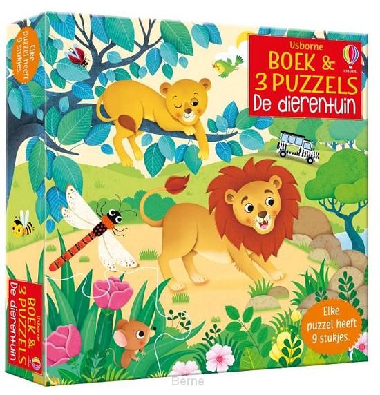 Boek & 3 Puzzels De dierentuin