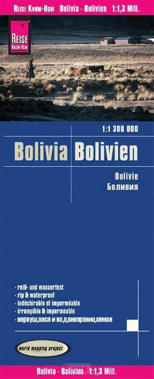 Reise Know-How Landkarte Bolivien 1 : 1.300.000