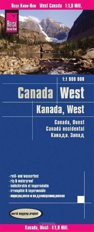 Reise Know-How Landkarte Kanada West 1 : 1.900.000