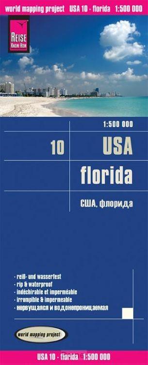 Reise Know-How Landkarte USA 10. Florida 1 : 500.000