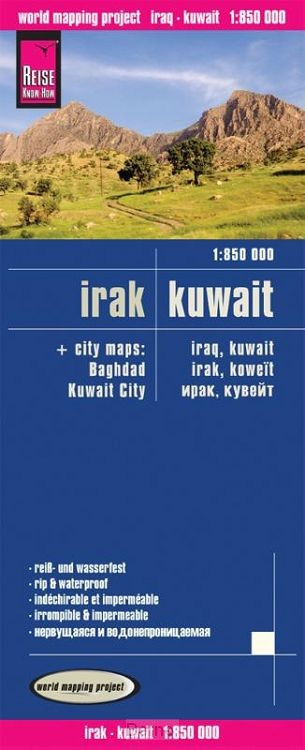 Reise Know-How Landkarte Irak, Kuwait 1 : 850.000