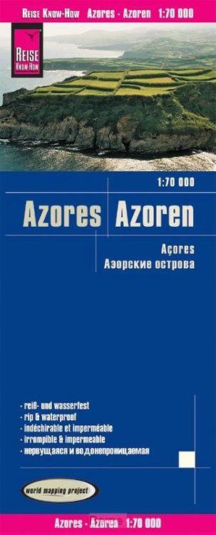 Reise Know-How Landkarte Azoren 1:70.000