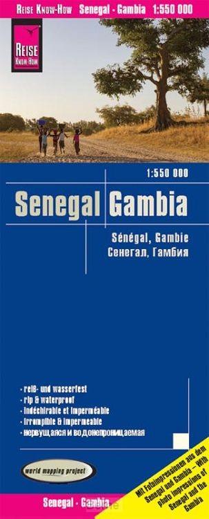 Reise Know-How Landkarte Senegal, Gambia 1 : 550 000