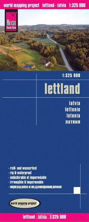 Reise Know-How Landkarte Lettland 1 : 325 000