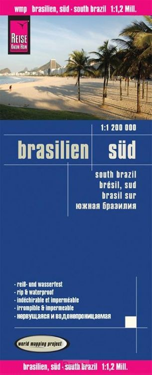 Reise Know-How Landkarte Brasilien, Süd 1 : 1.200.000