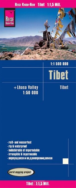 Reise Know-How Landkarte Tibet (1:1.500.000) und Lhasa-Valley (1:50.000)