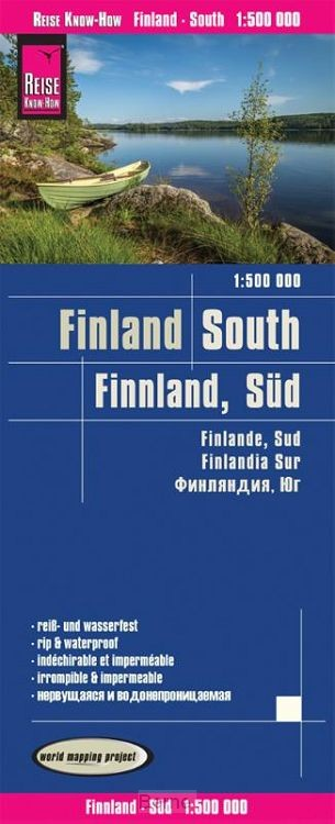 Reise Know-How Landkarte Finnland, Süd 1:500.000