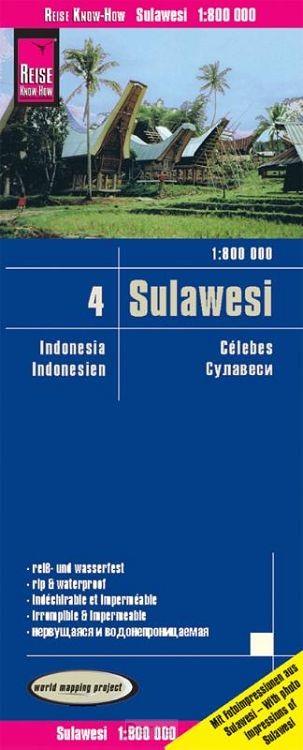 Reise Know-How Landkarte Sulawesi 1:800.000 - Indonesien 4