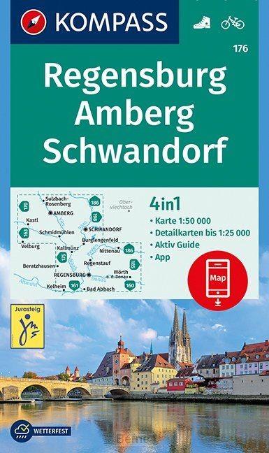 Regensburg, Amberg, Schwandorf 1:50 000