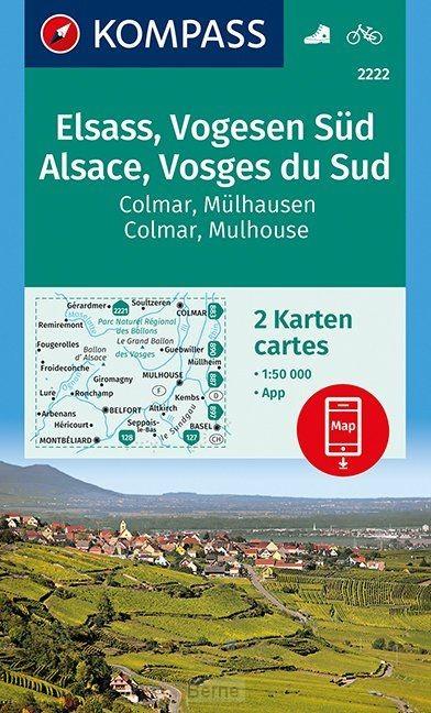 Elsass, Vogesen Süd, Alsace, Vosges du Sud, Colmar, Mülhausen, Mulhouse 1:50 000