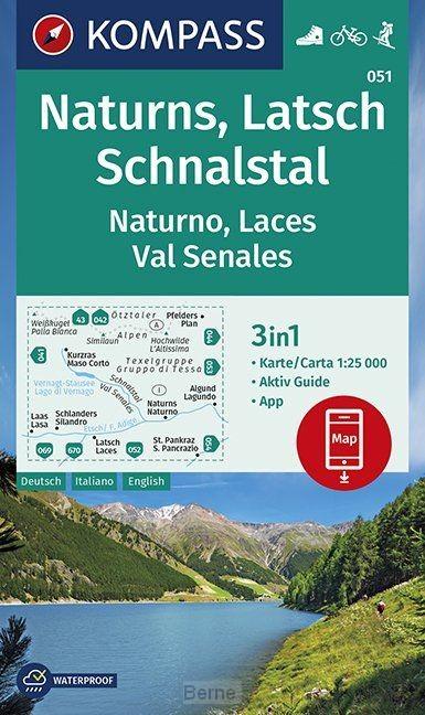 Naturns, Latsch, Schnalstal, Naturno, Laces, Val Senales 1:25 000