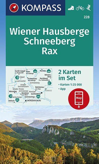 Wiener Hausberge, Schneeberg, Rax 1:25 000