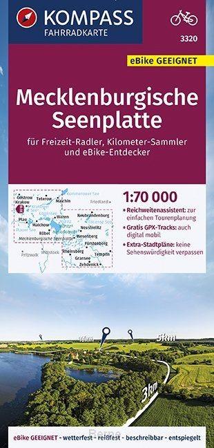 KOMPASS Fahrradkarte Mecklenburgische Seenplatte 1:70.000, FK 3320