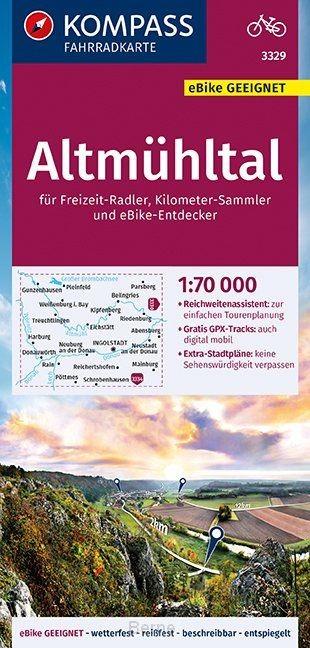 KOMPASS Fahrradkarte Altmühltal 1:70.000, FK 3329