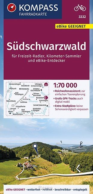 KOMPASS Fahrradkarte Südschwarzwald 1:70.000, FK 3332